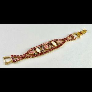 Antique Pink Gemstone Bracelet